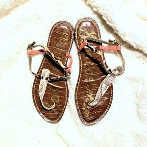 Sam Edelman | Snakeskin & Tiger Gigi Thongs
